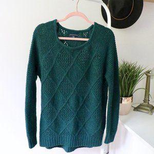 American Eagle Dark Green Knit Sweater (M)